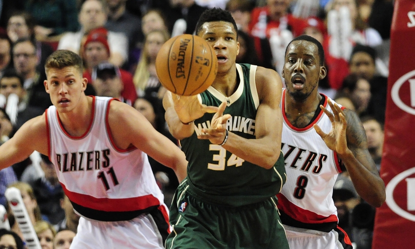 Image result for giannis antetokounmpo vs portland