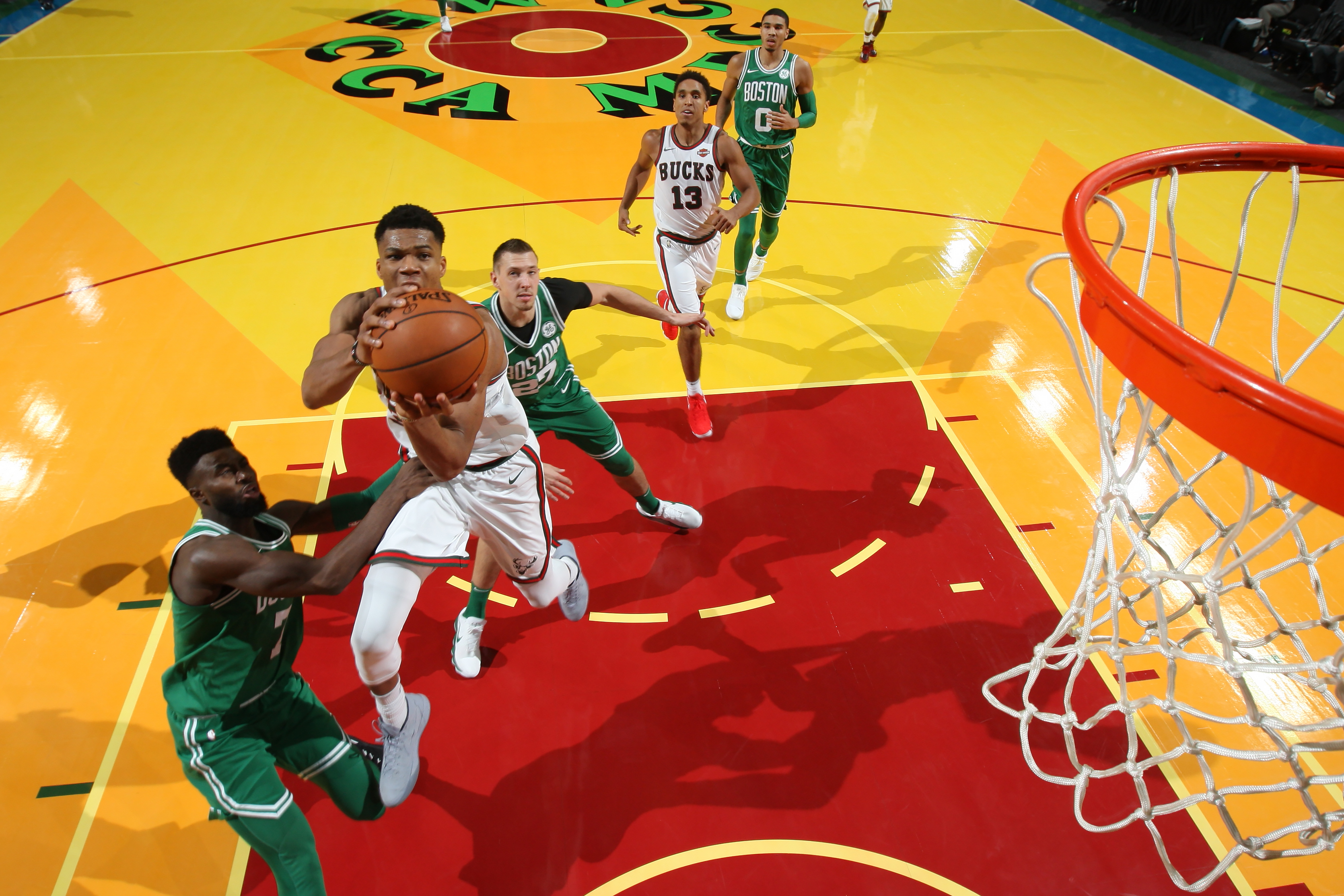 Kyrie Irving and Giannis Antetokounmpo Duel in Boston